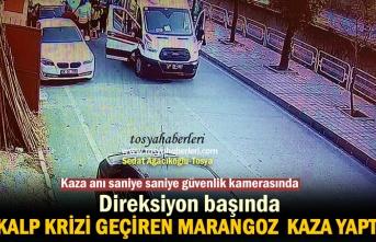 Tosya'da Kalp Krizi Geçiren Şoförün Kaza Anı Güvenlik Kamerasında