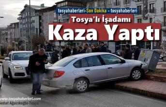 Tosya'da İlginç Trafik Kazası