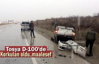 TOSYA D-100'de KAR YAĞIŞI SONRASI FECİ TRAFİK KAZASI