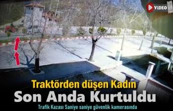 Tosya'da Trafik Kazasında Kadın Traktörden Düştü