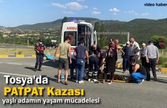 TOSYA'DA PATPAT KAZASINDA YAŞLI ADAM AĞIR YARALANDI
