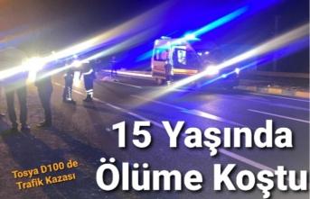 Tosya da 15 yaşındaki Genç Ölüme Koştu