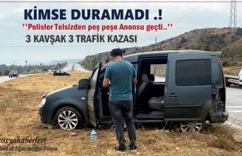 Tosya D-100'de 3 AyrıKavşakda Trafik Kazası