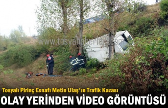Tosyalı Pirinç Esnafı Metin Ulaş'ın Kaza Yeri  (Video Haber )