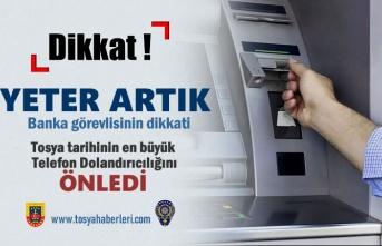 Tosya'da Telefon Dolandırıcılığını Banka görevlisinin Dikkati Önledi