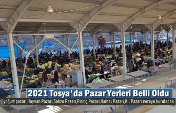 TOSYA'DA 2021 YILI YENİ PAZAR YERLERİ BELLİ OLDU