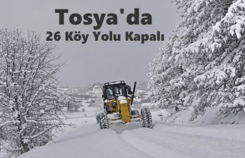 TOSYA'DA KÖY YOLLARI KAPANDI