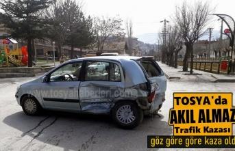 Tosya Marangozlar Sitesinde Trafik Kazası