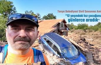 Tosya Belediyesi Sivil Savunma Afet Bölgesinde