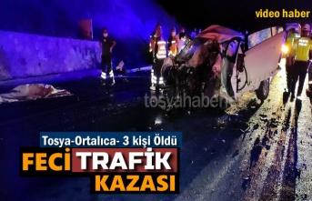 TOSYA'DA TRAFİK KAZASINDA 3 KİŞİ HAYATINI KAYBETTİ