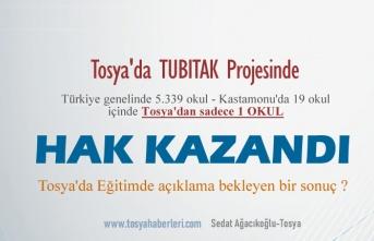 TUBİTAK PROJESİNDE TOSYA SINIFTA KALDI