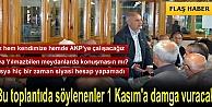 MHP TOSYA TEŞKİLATINDAN BOMBA AÇIKLAMALAR