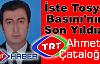 Tosya Basının Yeni Yıldızı  TRT Muhabiri Ahmet Çataloğlu