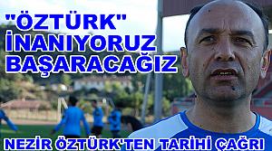 Tosya Belediyespor Antrenörü Nezir Öztürk'ten Tarihi Çağrı