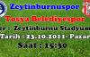 Tosya Belediyespor Zeytinburnuspor Deplasmanında