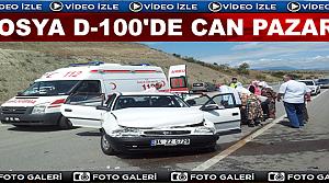 TOSYA D-100 KARAYOLUNDA TRAFİK KAZASI: 2 YARALI