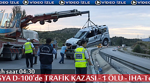 TOSYA D-100 TRAFİK KAZASINDA 1 KİŞİ ÖLDÜ