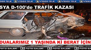 Tosya D-100'de Trafik Kazası 2'si Ağır 4 Yaralı