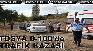 TOSYA D-100'DE TRAFİK KAZASINDA 1 KİŞİ YARALANDI