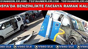 TOSYA'DA BENZİNLİKTE TRAFİK KAZASI