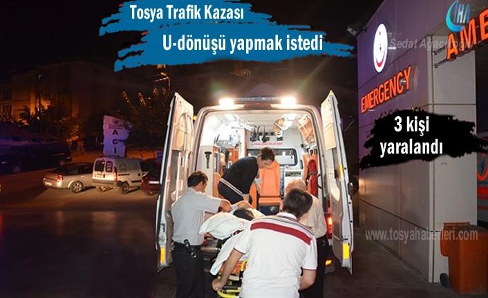 Tosya'da hatalı U-Dönüşü kazaya neden oldu