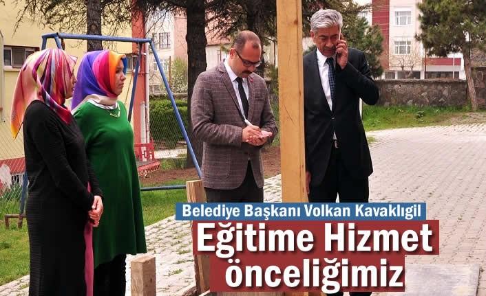 Belediye Başkanı Volkan Kavaklıgil ''Eğitim Önceliğimiz''