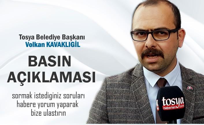 Tosya Belediye Başkanı Volkan Kavaklıgil Basın Açıklaması