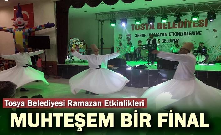 Tosya Belediyesi Ramazan Etkinliklerinde Muhteşem Final Gecesi