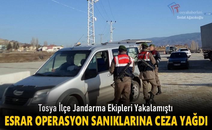 Tosya'da Uyuşturucu Sanıklara Ceza Yağdı