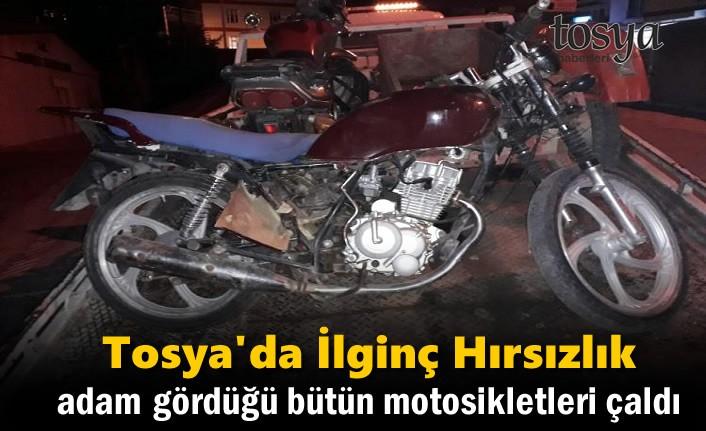 Tosya'da Bir Kişi Gördüğü Motosikletleri Çaldı