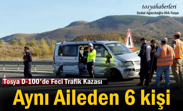Tosya'da Trafik Kazasında Aynı Aileden 6 Kişi