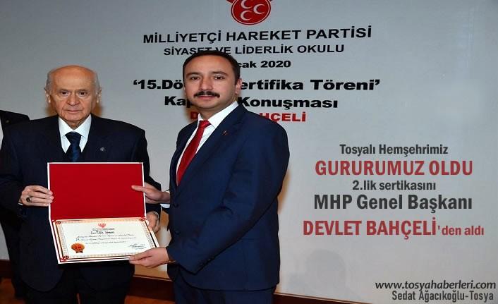 Hemşerimizin MHP Siyaset Okulundaki Başarısı