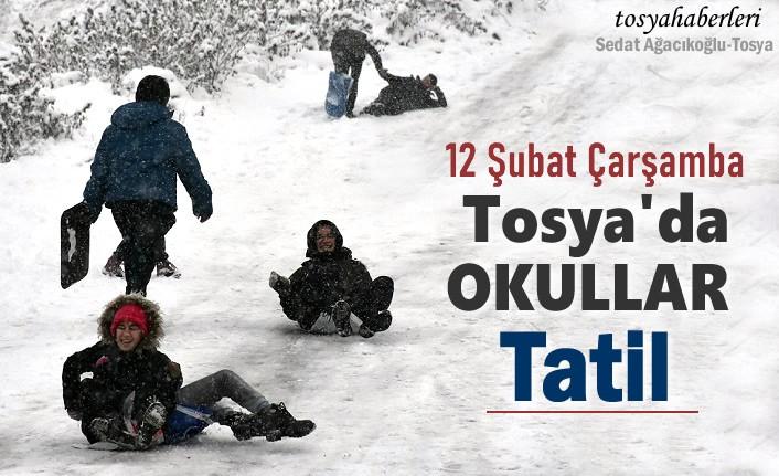 Son Dakika -TOSYA'DA OKULLAR TATİL