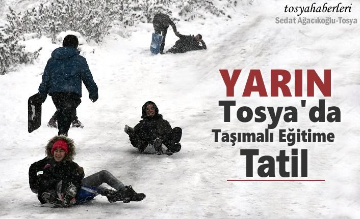 TOSYA'DA TAŞIMALI EĞİTİME 1 GÜN TATİL