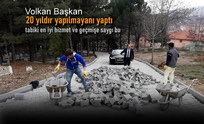 Tosya Belediyesinden Mezarlıkta Revize Çalışması