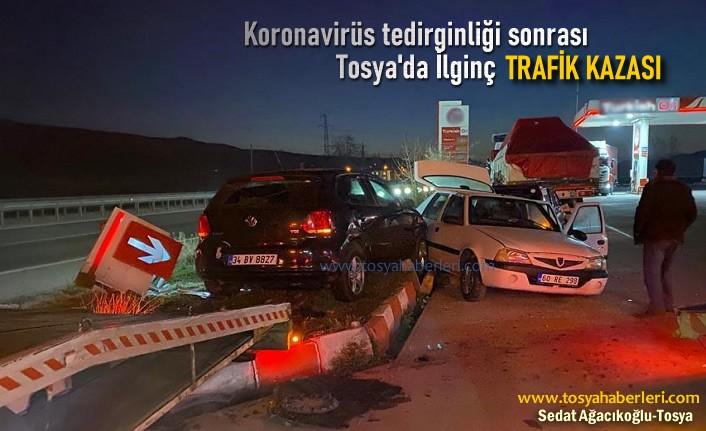 Tosya D-100'de Trafik Kazasında 5 Kişi Yaralandı