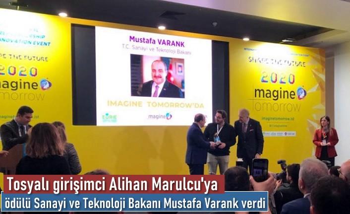 Tosyalı Girişimciye Yılın Teknoloji Ödülünü Bakan Mustafa Varank Verdi