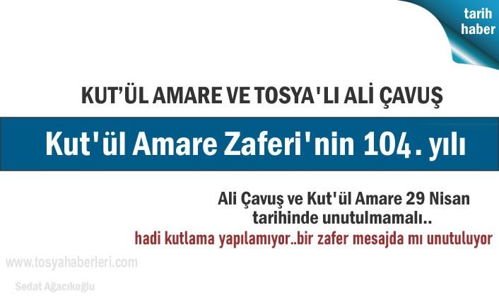 Tosya'da Kut'ül Amare Zaferi ve Ali Çavuşu Unuttu