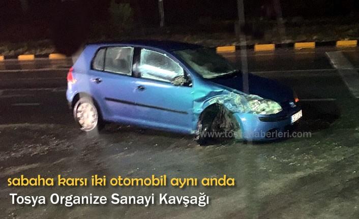 TOSYA ORGANİZE SANAYİ KAVŞAĞINDA TRAFİK KAZASI