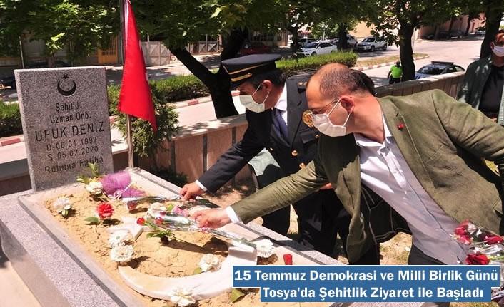 Tosya'da 15 Temmuz Demokrasi ve Milli Birlik Günü Şehitlik Ziyareti ile Başladı