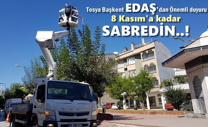 Başkent Edaş'dan Tosya'da Elektrik Kesintisi ile ilgili Önemli Açıklama