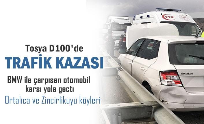 Tosya D100'de Trafik Kazası