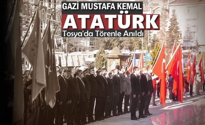 Tosya'da 10 Kasım Atatürk'ü Anma Töreni
