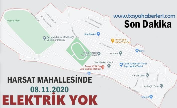 TOSYA HARSAT MAHALLESİNDE ELEKTRİK YOK