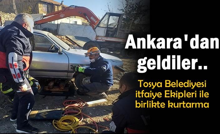 Ankara'dan Tosya Belediyesi İtfaiye Ekiplerine Destek