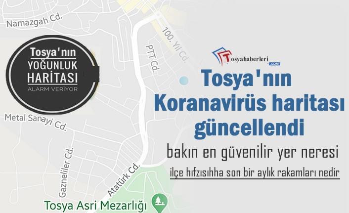 Tosya'nın Kovid-19 Haritası Alarm Veriyor