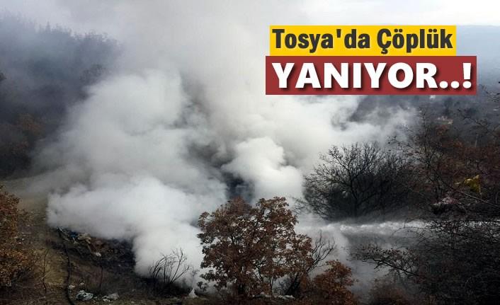 Tosya'da Çöplükde Yangın
