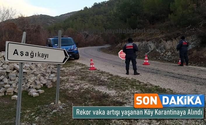 14 Pozitif Vaka Çıkan Köy Karantinaya Alındı !