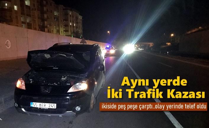 Tosya D100'de Peş Peşe Trafik Kazası