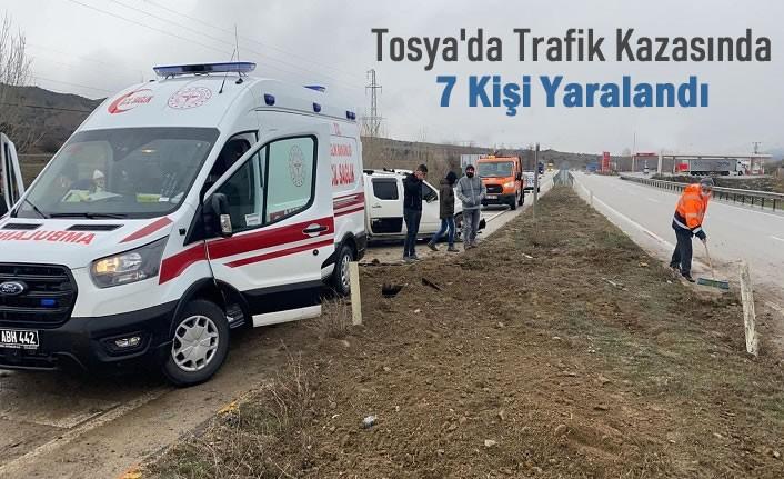 Tosya D100 Trafik Kazası 7 Yaralı